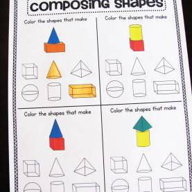 Simple First Grade Lesson Plans Geometry Miss Giraffe'S Class: Composing Shapes In 1St G
