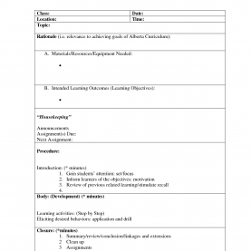Simple Generic Lesson Plan Best Photos Of Lesson Plan Template Sample - Sample Lesson Pla