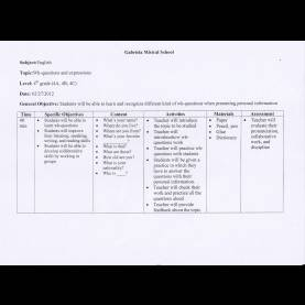 Simple Lesson Plan Questions Lesson Plan/wh-Questions | My Professional Prac