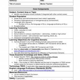 Simple Madeline Hunter Lesson Plan Blank Template Madeline Hunter Lesson Plan Template Word | Business Temp
