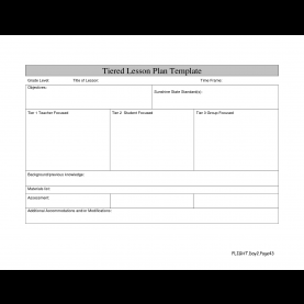Simple Online Lesson Plan Template Differentiated Lesson Plan Template   Hunecompany