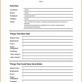 Simple Project Lessons Learnt Template Lessons Learnt Report Template New Retrospective Templat