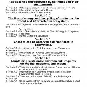 Simple Sample Lesson Plan In Biology Grade 8 Science 7 Interactions And Ecosystems Unit And Lesson Plan