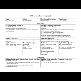 Simple Siop Lesson Plan Template For Math Siop Lesson Plan Templat - Best Res