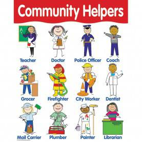 Simple Social Helpers Pictures Chart Community Helpers - Ctp5694   Creative Teaching Press   Ch