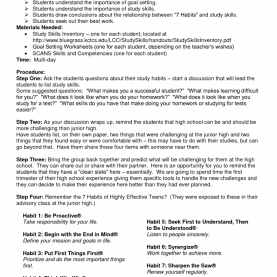Simple Study Skills Lesson Plans Worksheets For All | Download And Share Worksheets | Free O