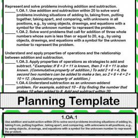 Special 2Nd Grade Math Lesson Plans Using Technology 1St Grade Math Common Core Checklist - Lesson Planning For