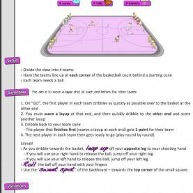 Special Basketball Lesson Plans A Basketball Lesson To Try €? 'Ball Control & Layups €? Prim