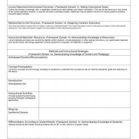 Special Lesson Plan Sample Objectives Sample Lesson Plan Template | Business Temp