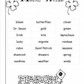 Special Lesson Plans For Preschool March March Lesson Plans, Themes, Holidays, And Print