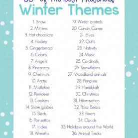 Special Preschool Lesson Plans For Snow 35+ Best Winter Preschool Themes And Lesson Plans | Math Ste