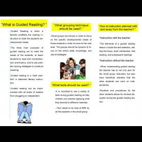 Special Purpose Of Guided Reading Guided Reading Brochure
