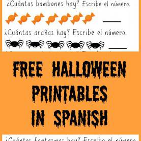 Special Spanish Preschool Curriculum Lesson Plans Raising Bilingual Kids: Free Halloween Printables In Spanis