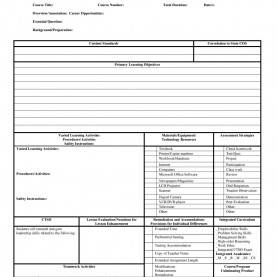 Special Teacher Weekly Lesson Plan Template Pdf Lesson Plan Format Template - Fieldstatio
