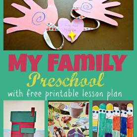 Special Toddler Lesson Plans Free Printable My Family Preschool Theme Week With Free Printable Two Day Lesso