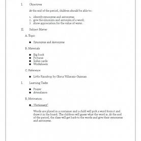 Top Detailed Lesson Plan In English Kindergarten A Detailed Lesson Plan In Sample O