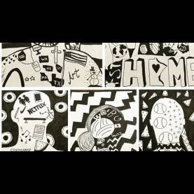 Top Drawing Project For Middle School Silhouette !! Identity !! Project - Fun Easy Kids Art Video