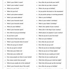 Top Elementary English Lessons Conversation Questions - Getting To Know You - Elementary | Es