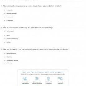 Top How To Develop A Lesson Plan Quiz & Worksheet - Creating Lesson Plans | Study