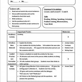 Top How To Make A Lesson Plan For Grammar Sample Lesson Plan Template Delux Examples €? Ideasto