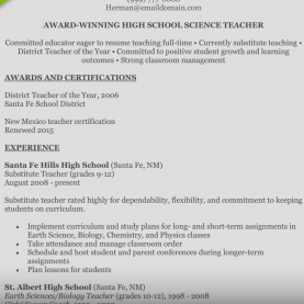 Top How To Make A Lesson Plan In Biology How To Write A Perfect Teaching Resume (Examples Inclu