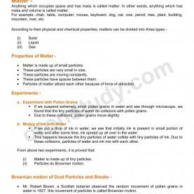 Top Lesson Plan For Chemistry Class 9 Chapter Notes: Matter In Our Surroundings| Class 9 Science Note