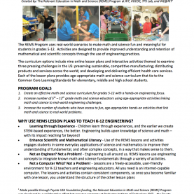 Top Lesson Plan Science K-12 K-12 Stem Activities (Rems): Overview | Kate Gleason College O