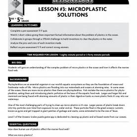Top Lesson Plan Template York University Oceanic Scales Lesson Plan #3: Microplastic Solutions €? Oceanic Sc