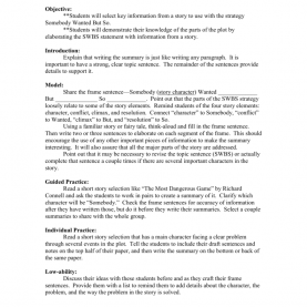 Top Parts Of Lesson Plan In English Lesson Plan: Summarizing A Short Story (Englis