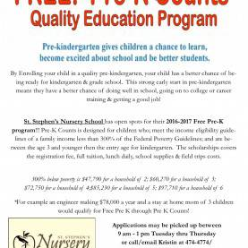 Top Pre K Guidelines Free Openings For Pre-K Counts Program | St. Stephen'S Episcopa