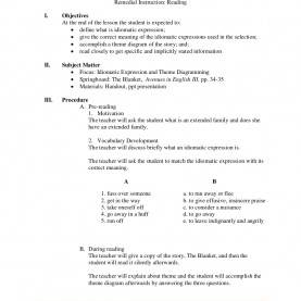 Top Sample Of Semi Detailed Lesson Plan In English Secondary Semi-Detailed Lesson Plan On Idiomatic Expressions | Damit | Pinte