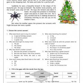 Trending Esl Reading Activities Pdf 321 Learn English.Com: Reading: A Special Christmas Present (Leve