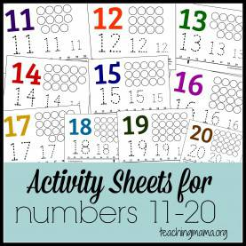 Trending Preschool Lesson Plans For Numbers 11-20 Activities For Numbers 1