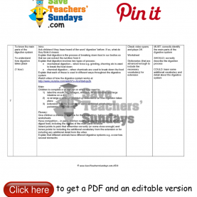Trending Reading Lesson Plans Year 7 Digestive System Lesson Plan. Go T