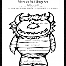 Trending Where The Wild Things Are Lesson Plans Where The Wild Things Are Worksheets - Resulti