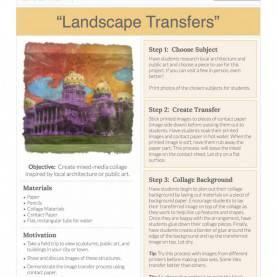 Typical Art Education Lesson Plans Landscape Transfers: Free Lesson Plan Download - The Art O