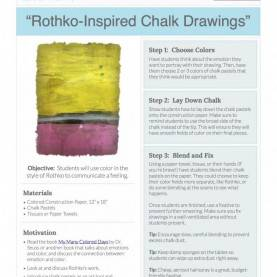 Typical Art Lesson Plans K-2 Rothko Inspired Chalk Drawings Art Lesson For K-2 From Artofe