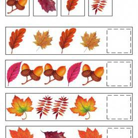 Typical Autumn Pictures For Preschool Fall Pattern Skills Math Worksheet By Learning Treasure