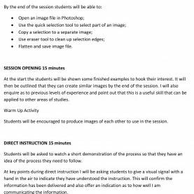Typical Elements Of Lesson Plan Combining Image Elements: A Lesson Plan On Photoshop | Adob