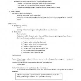 Typical English Lesson Plan To Be Lesson Plan I English II Rbec Competencies Listening: Identify Th