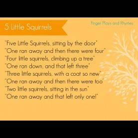 Typical Fall Fingerplays For Toddlers 5 Little Squirrels Finger Play For Preschoolers   Finger Play