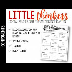 Typical Kindergarten Lesson Plans Christmas Around The World Holidays Around The World: Little Social Studies Thinkers Unit