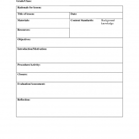 Typical Lesson Plan Templates Blank Blank Lesson Plan Template | Lisamaurode