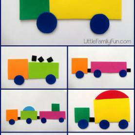 Typical Lesson Plans For Preschoolers On Transportation Build A Truck! Fun Way To Review Shapes With Preschoolers. Truc