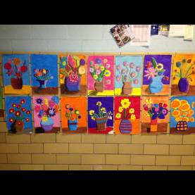 Unusual 8Th Grade Art Lessons Art: Expression Of Imagination: Van Gogh Inspired Flowers By 8Th G