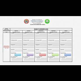Unusual Example Of Daily Lesson Log Daily Lesson Log Format - English & Filipino Language ~ Filesis