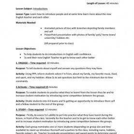 Unusual Example Of Detailed Lesson Plan In English For Elementary Lesson Plan - Self Introduction Worksheet - Free Esl Printabl