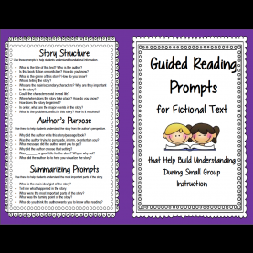 Unusual Guided Reading Comprehension Activities Guided Reading Prompts And Questions To Improve Comprehensio