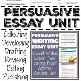 Unusual High School English Unit Lesson Plans Persuasive And Argumentative Writing Unit With Lesson Plan