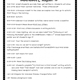 Unusual How To Prepare A Lesson Plan For Elementary School Crazy For First Grade: Back To School- The First Day In First Grad